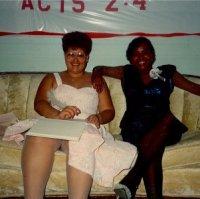 Me and my (half) sister Genie (Eugenia Jones).
