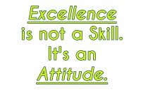 Execellence-is-not-a-skill-its-an-attitude