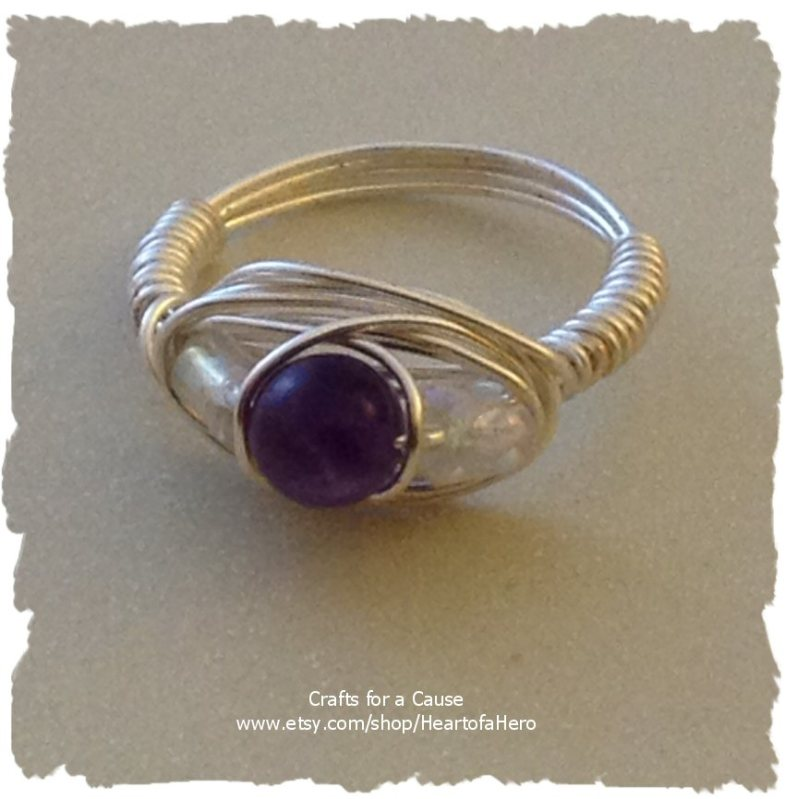 Cool Amethyst Ring $10.00